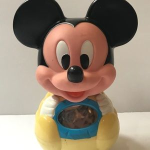 Vintage 1984 Mickey Mouse Baby Toy Roly Poly Chime